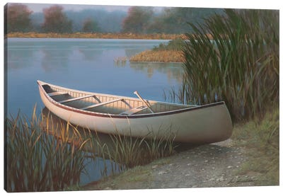 On The Lake Canvas Art Print