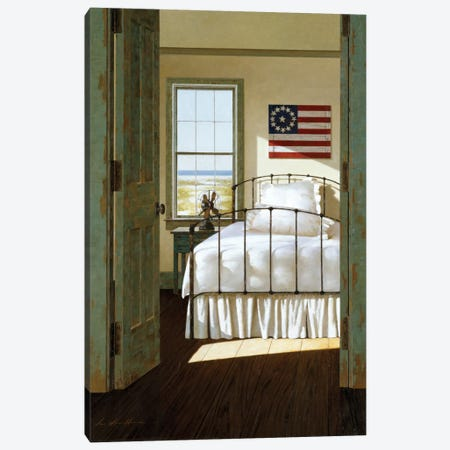 Beach House Bedroom Canvas Print #ZHL4} by Zhen-Huan Lu Art Print