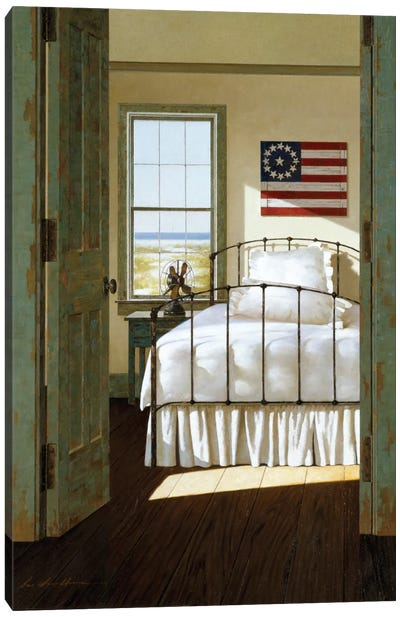 Beach House Bedroom Canvas Print #ZHL4