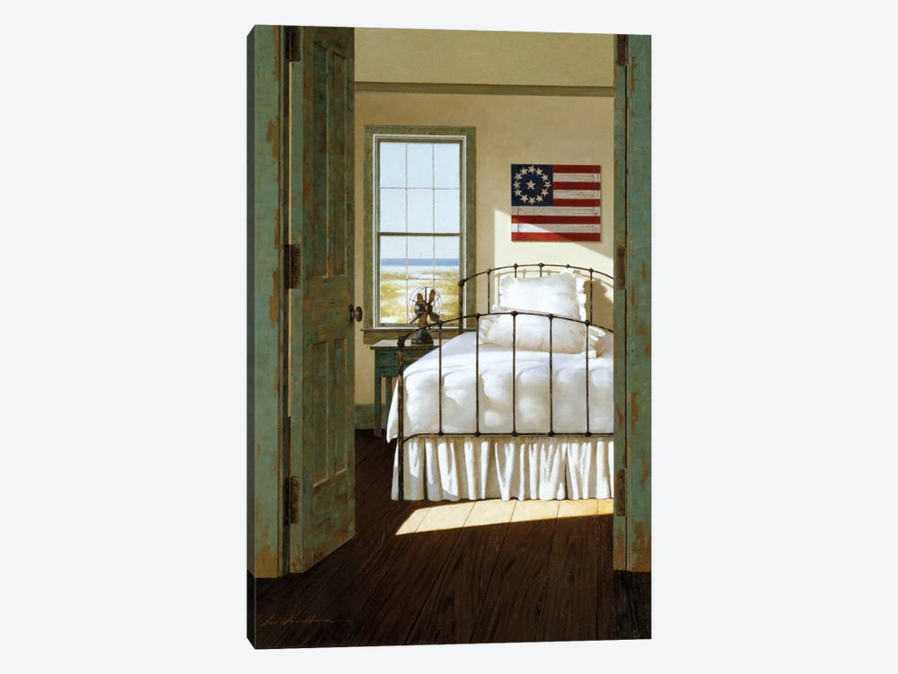 Beach House Bedroom by Zhen-Huan Lu 1-piece Art Print
