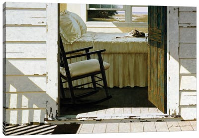 Beach House Cat Canvas Art Print