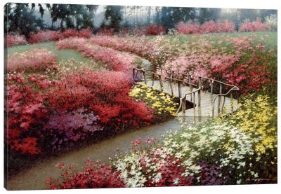 Monet's Flower Garden Canvas Print #ZHL62