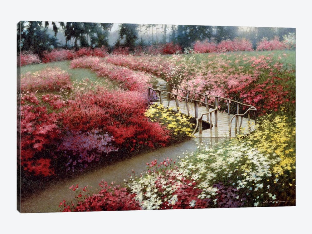 Monet's Flower Garden by Zhen-Huan Lu 1-piece Art Print