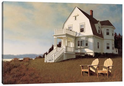 Oceanfront View Canvas Art Print
