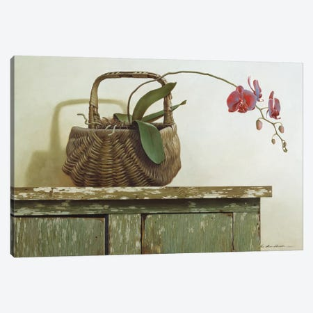 Orchid Basket Canvas Print #ZHL73} by Zhen-Huan Lu Canvas Wall Art