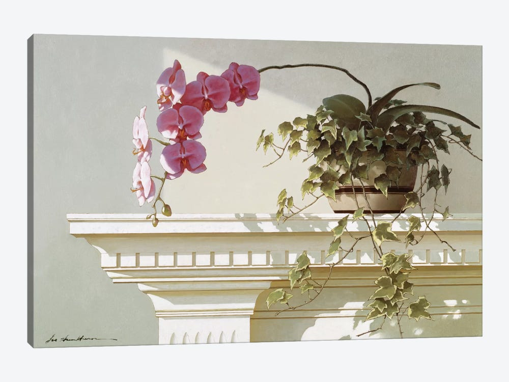 Orchid On Mantle by Zhen-Huan Lu 1-piece Canvas Wall Art