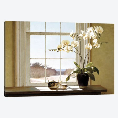 Orchids In The Window II Canvas Print #ZHL76} by Zhen-Huan Lu Art Print