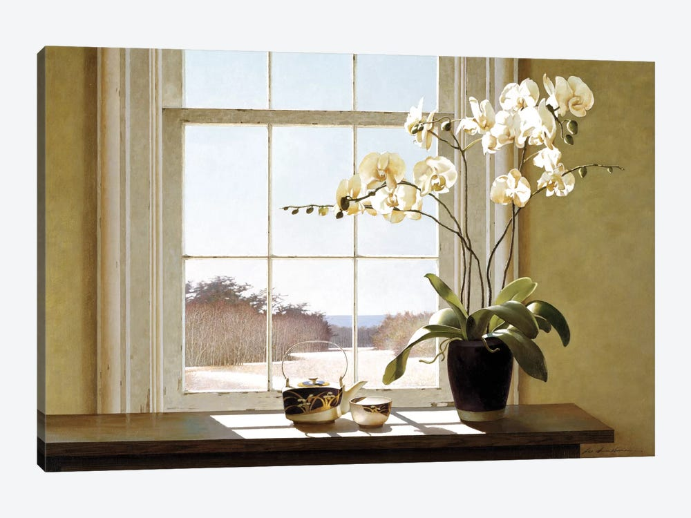 Orchids In The Window II 1-piece Canvas Wall Art