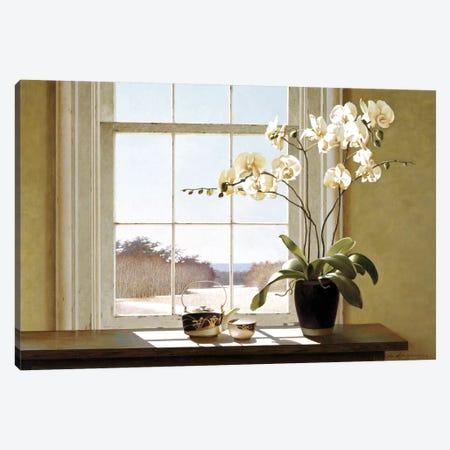 Orchids In The Window II 3-Piece Canvas #ZHL76} by Zhen-Huan Lu Art Print