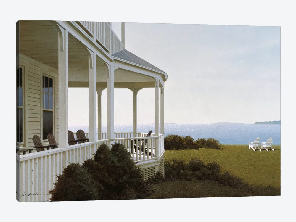 Porch Chairs 1-piece Canvas Print