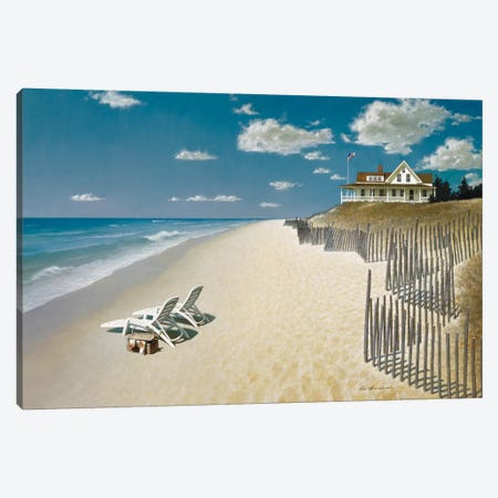Beach House View I Canvas Print #ZHL7} by Zhen-Huan Lu Art Print
