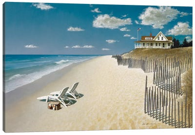Beach House View I Canvas Art Print