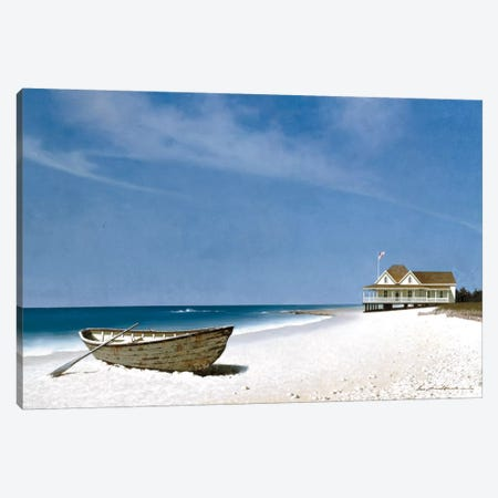 Beach House View II Canvas Print #ZHL8} by Zhen-Huan Lu Canvas Wall Art
