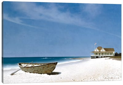 Beach House View II Canvas Art Print