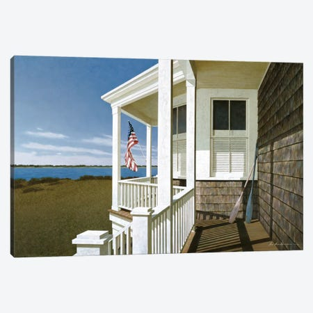 Porch View I Canvas Print #ZHL91} by Zhen-Huan Lu Canvas Wall Art