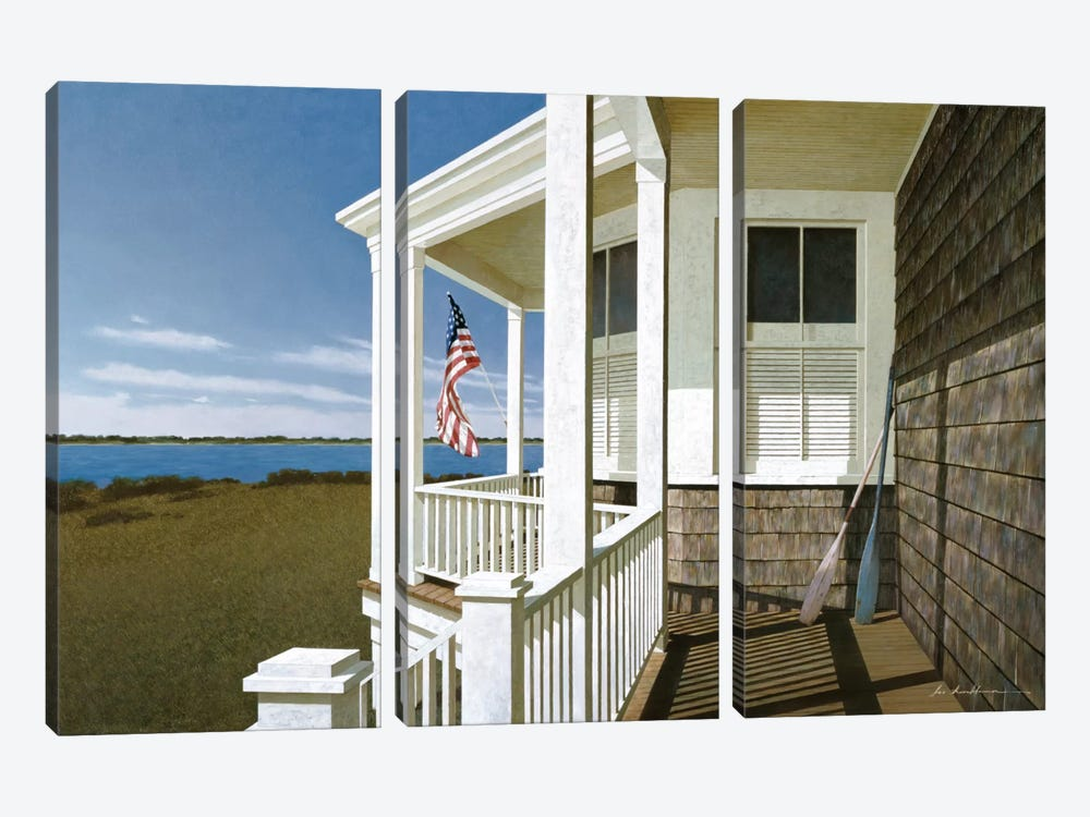 Porch View I 3-piece Canvas Print