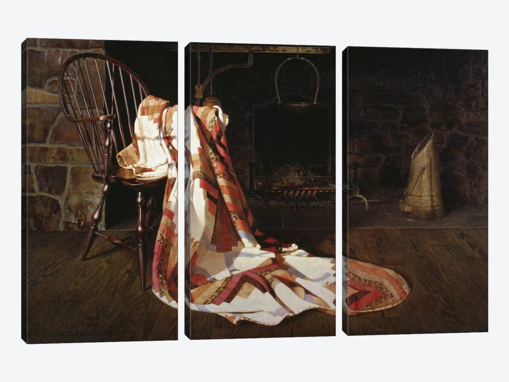Quilt by Zhen-Huan Lu 3-piece Canvas Artwork