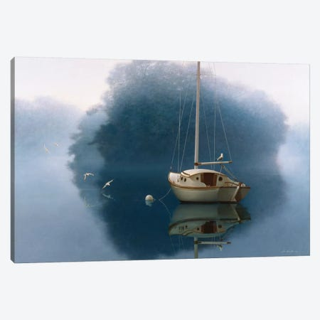 Sail Boat Canvas Print #ZHL96} by Zhen-Huan Lu Canvas Art Print