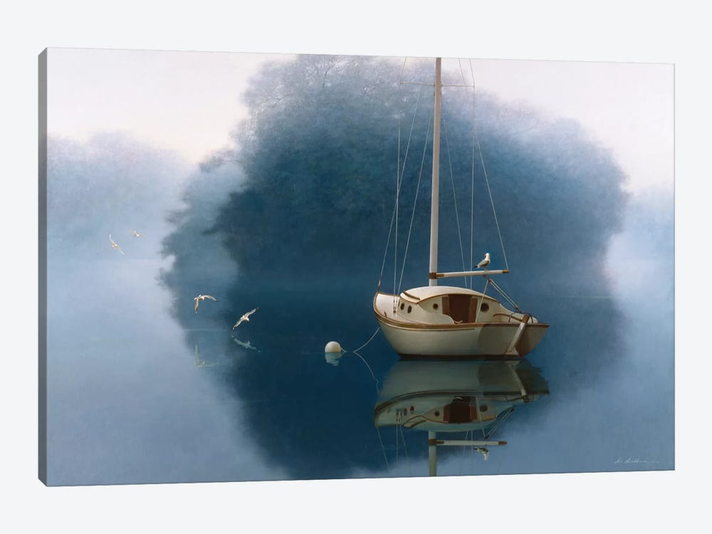 Sail Boat by Zhen-Huan Lu 1-piece Canvas Artwork