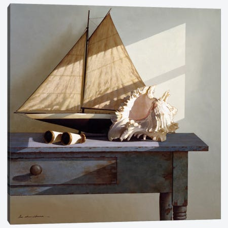 Shell & Sail Canvas Print #ZHL98} by Zhen-Huan Lu Canvas Artwork