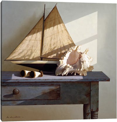 Shell & Sail Canvas Print #ZHL98