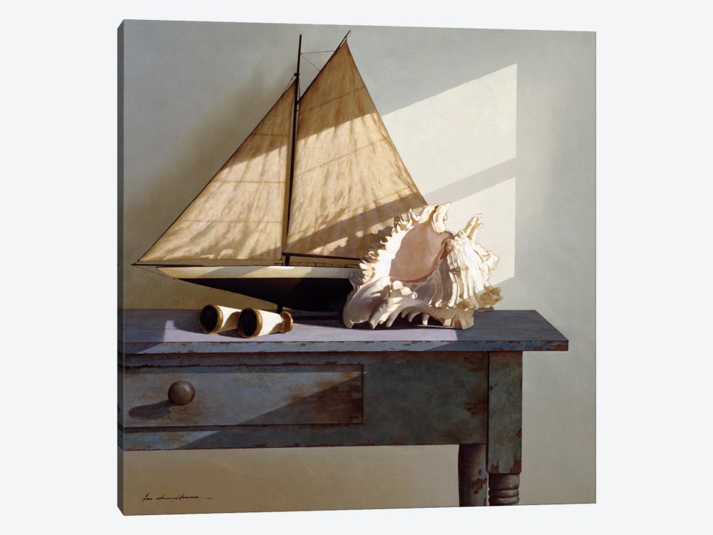 Shell & Sail by Zhen-Huan Lu 1-piece Canvas Artwork