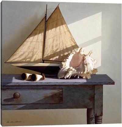 Shell & Sail Canvas Art Print