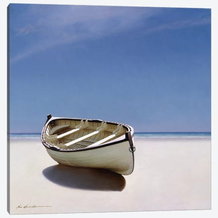 Beached Boat I Canvas Print #ZHL9} by Zhen-Huan Lu Canvas Artwork