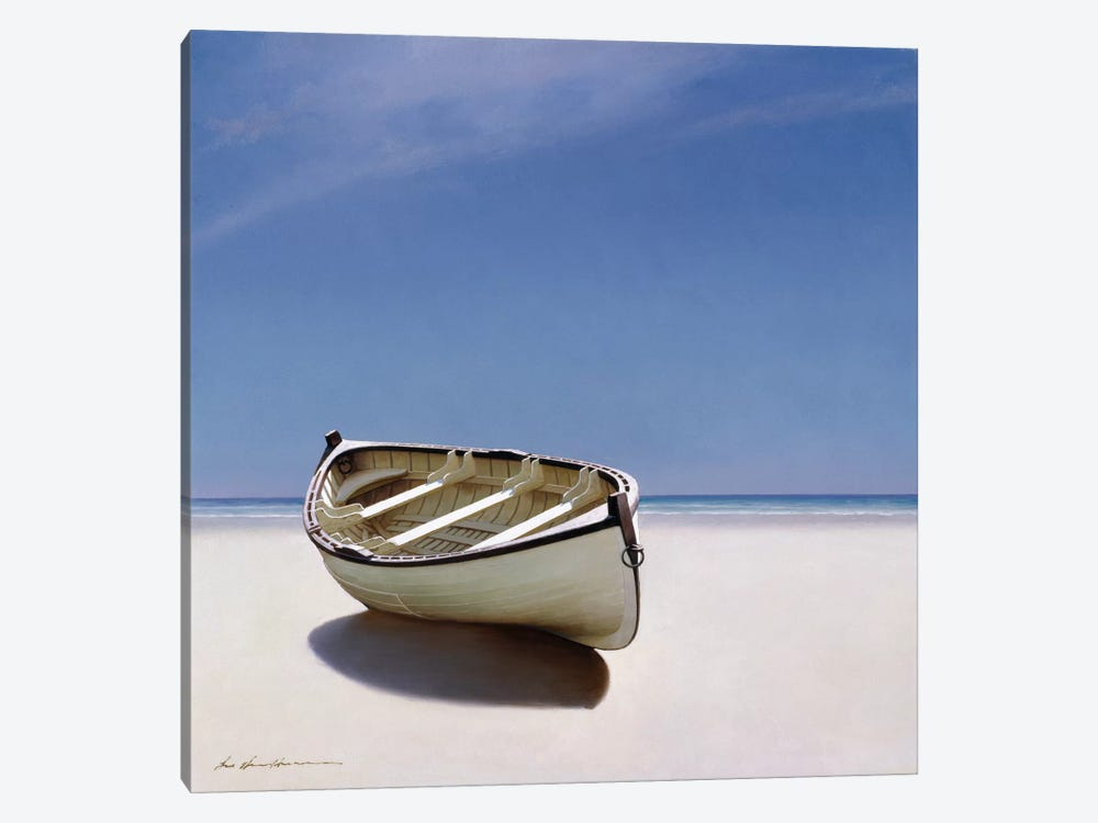 Beached Boat I 1-piece Canvas Wall Art