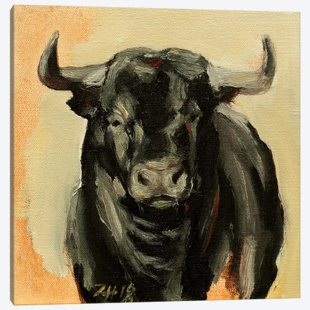 Toro Head IV Canvas Print #ZHO101} by Zil Hoque Canvas Art