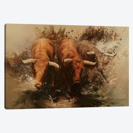 Torrent II 3-Piece Canvas #ZHO102} by Zil Hoque Canvas Wall Art