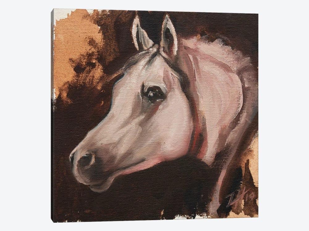 equine Head Arab White (study 11) by Zil Hoque 1-piece Canvas Art Print