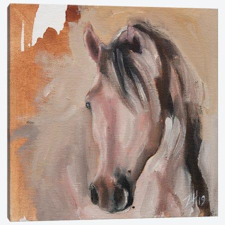 Equine Head Arab White (study 30) Canvas Print #ZHO125} by Zil Hoque Canvas Art Print