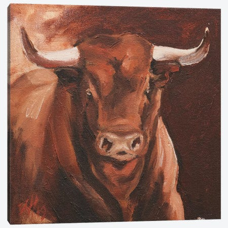 Toro Head Colorado (study 6) Canvas Print #ZHO145} by Zil Hoque Canvas Art Print