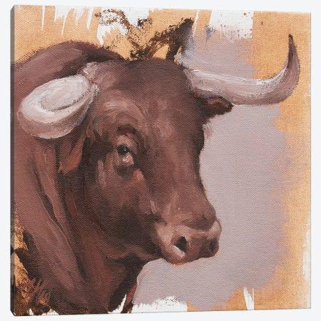 Toro Head Colorado (study 22) Canvas Print #ZHO156} by Zil Hoque Canvas Wall Art