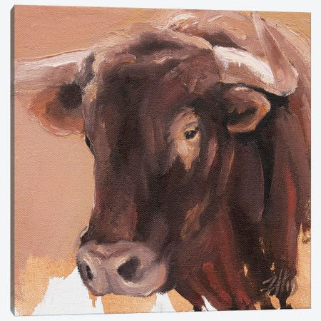 Toro Head Colorado (study 58) Canvas Print #ZHO163} by Zil Hoque Canvas Wall Art