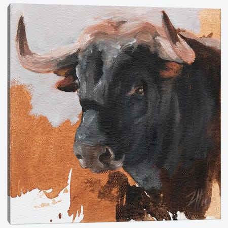 Toro Head Negro (study 17) Canvas Print #ZHO164} by Zil Hoque Canvas Print