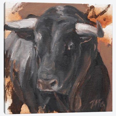 Toro Head Negro (study 29) Canvas Print #ZHO171} by Zil Hoque Canvas Print
