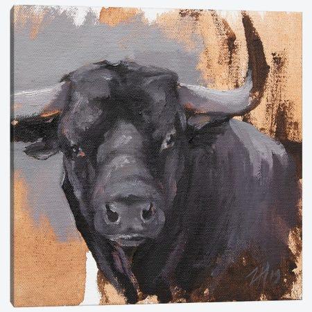 Toro Head Negro (study 42) Canvas Print #ZHO179} by Zil Hoque Art Print