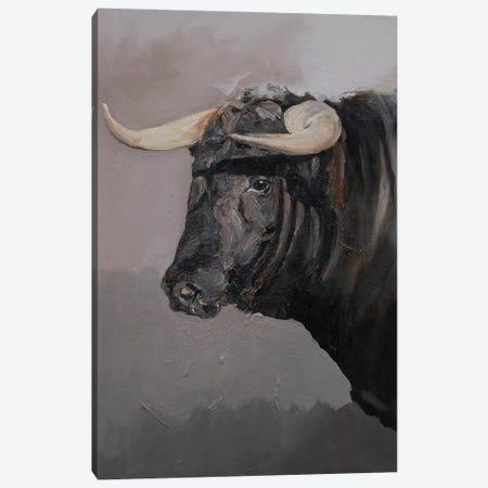 Toro Espanol Negro II Canvas Print #ZHO187} by Zil Hoque Art Print