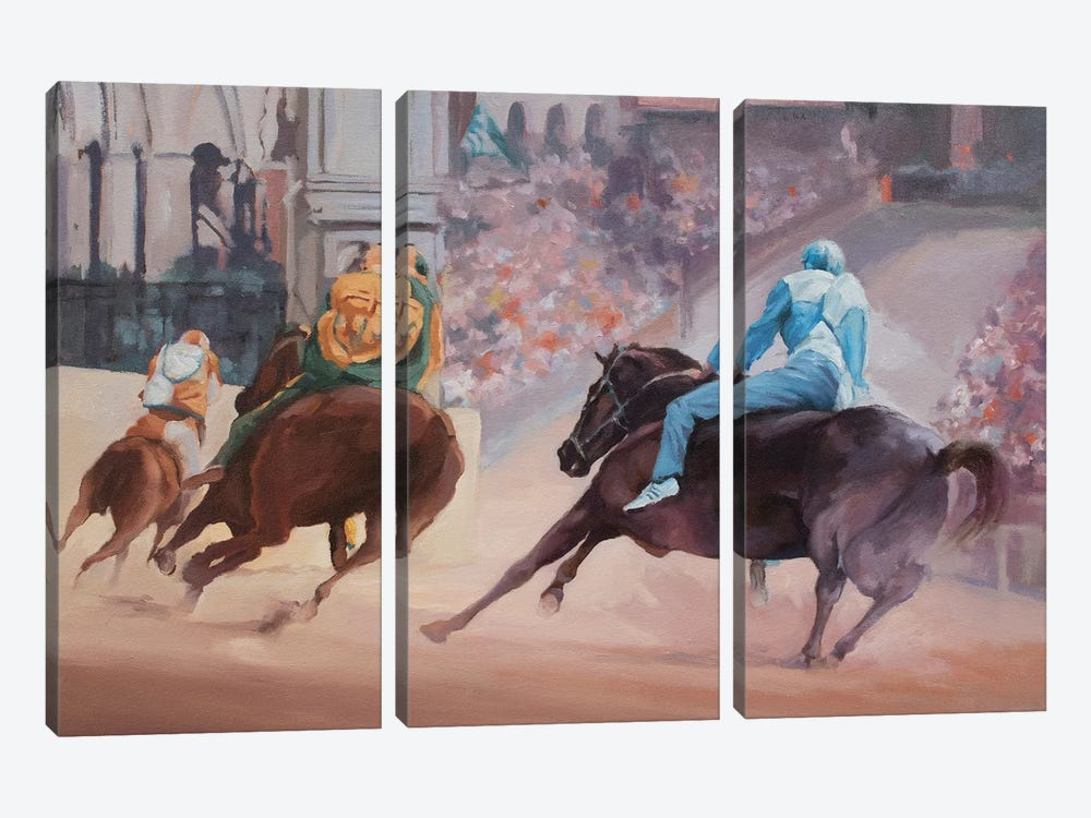 Palio 2 by Zil Hoque 3-piece Canvas Art