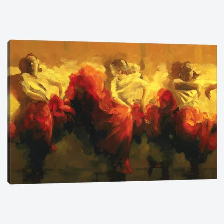 Cortejo Rojo I Canvas Print #ZHO203} by Zil Hoque Art Print