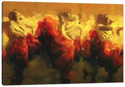 Cortejo Rojo I Canvas Art Print