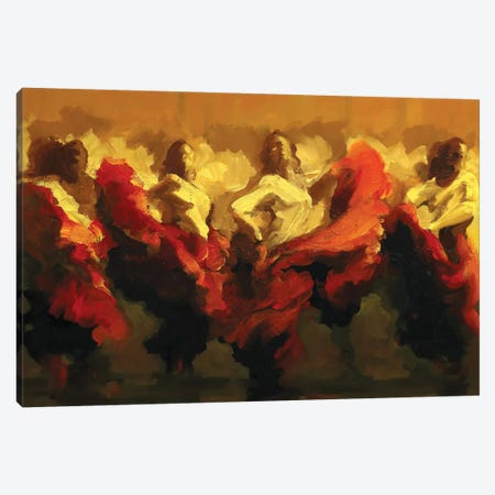Cortejo Rojo II Canvas Print #ZHO204} by Zil Hoque Canvas Art