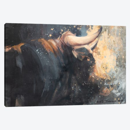 Horns V Canvas Print #ZHO211} by Zil Hoque Canvas Artwork