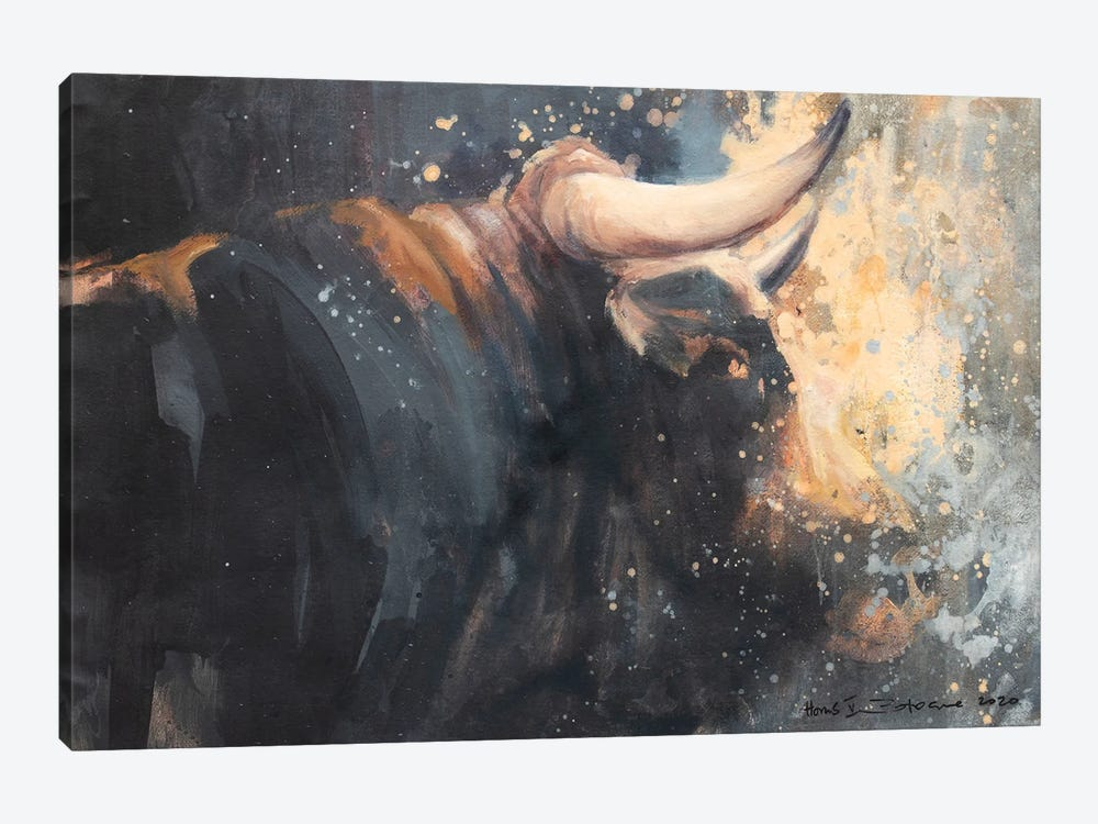 Horns V by Zil Hoque 1-piece Canvas Art