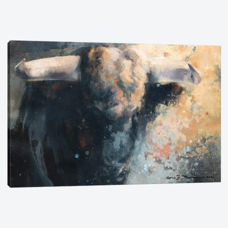 Horns VI Canvas Print #ZHO212} by Zil Hoque Canvas Artwork