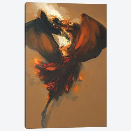 Terpsichore III Canvas Print #ZHO30} by Zil Hoque Canvas Print
