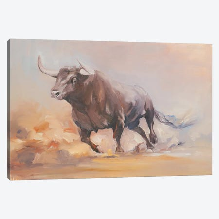 Toro Bravo VIII Canvas Print #ZHO31} by Zil Hoque Canvas Print