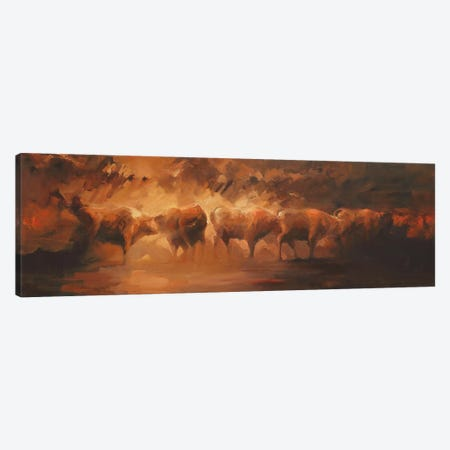 Wild Bunch  Canvas Print #ZHO35} by Zil Hoque Canvas Art